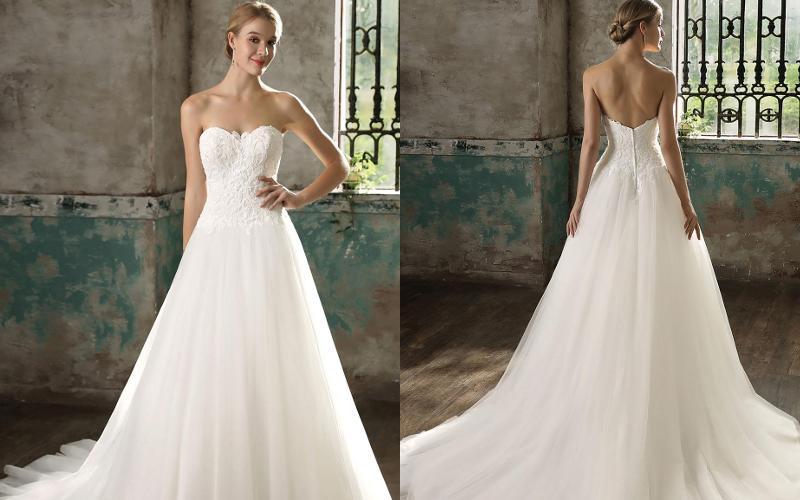 Весільні сукні а силует фото 1