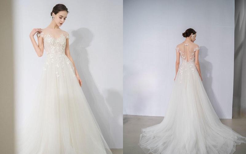 Весільні сукні а силует фото 2