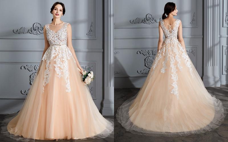 Весільні сукні а силует фото 3