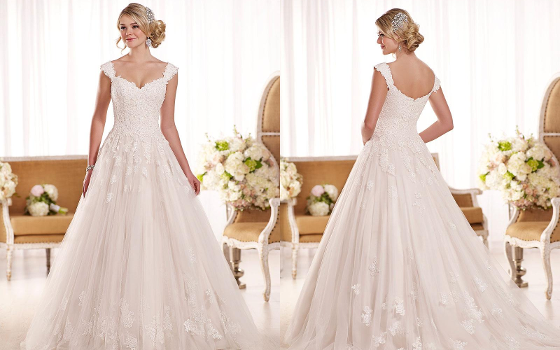 Весільні сукні а силует фото 4