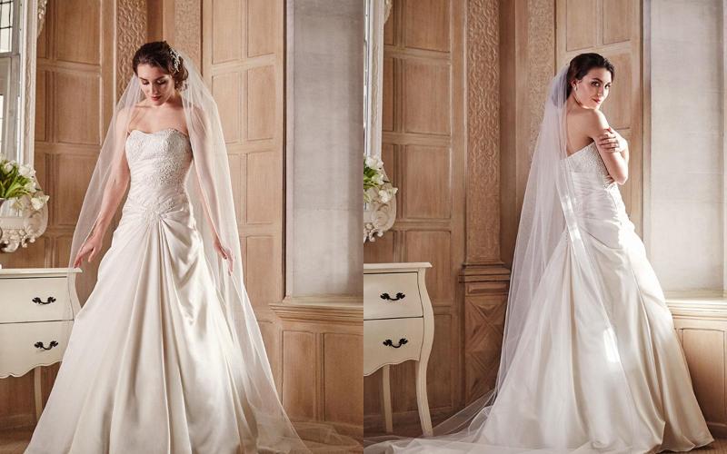 Весільні сукні а силует фото 5