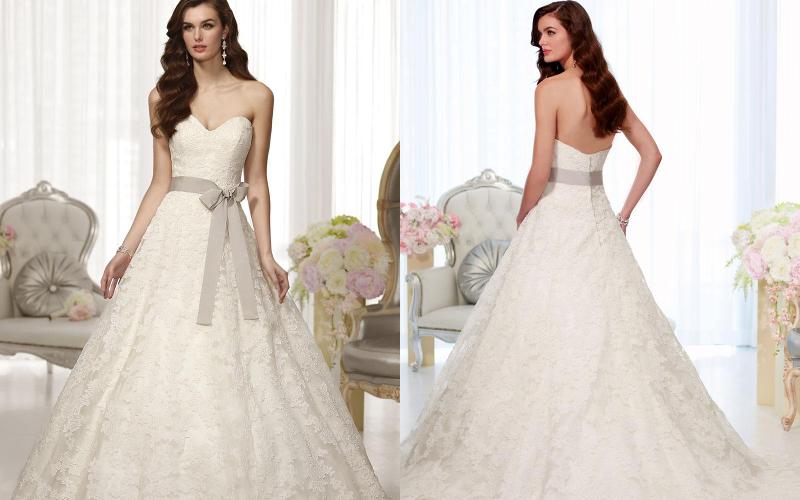 Весільні сукні а силует фото 6