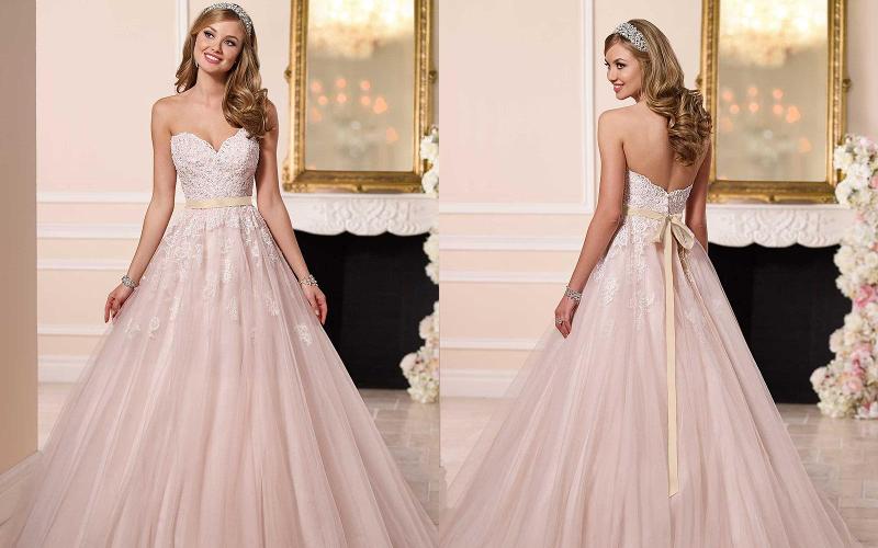 Весільні сукні а силует фото 7