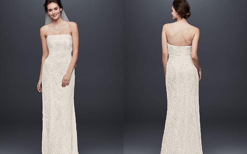 Весільні сукні прямі фото 1