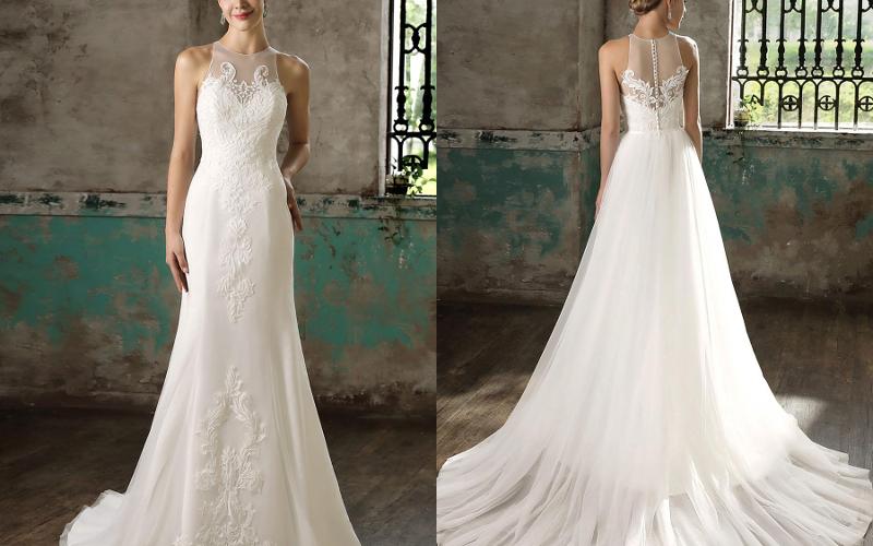 Весільні сукні прямі фото 2