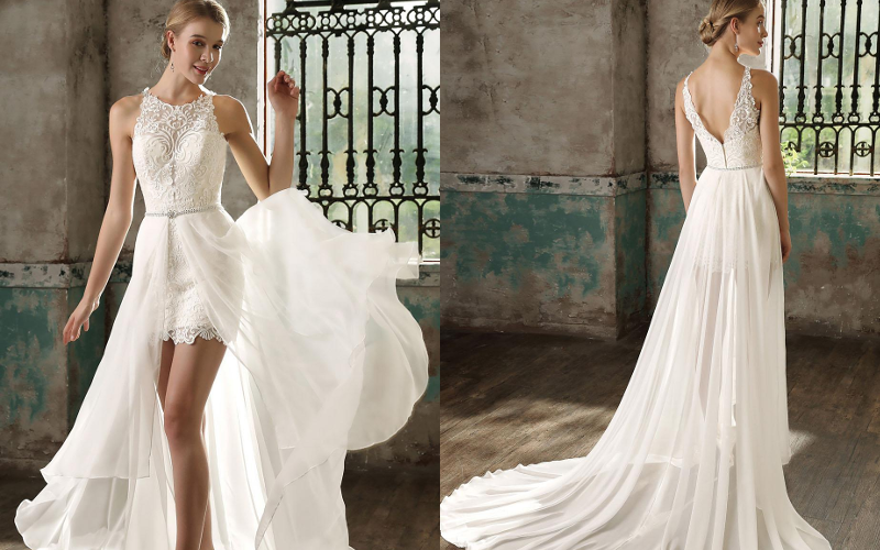 Весільні сукні прямі фото 3