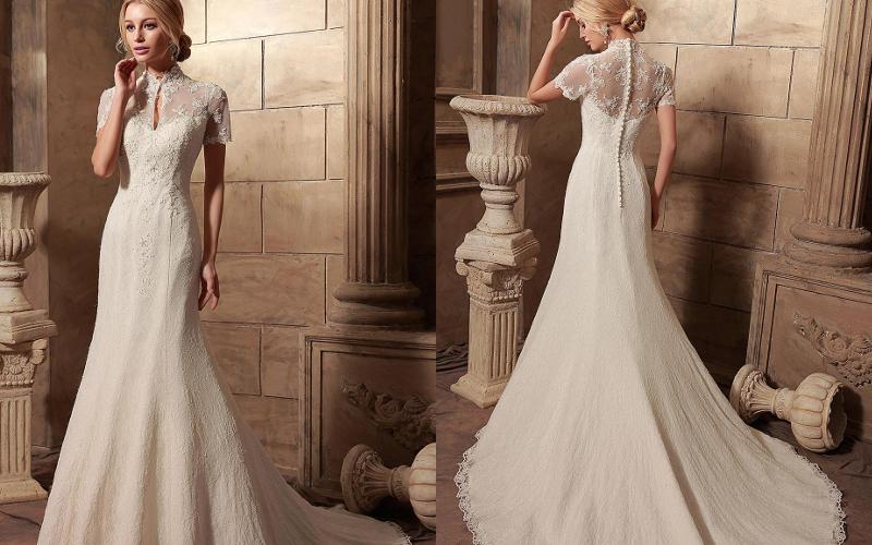 Весільні сукні прямі фото 5