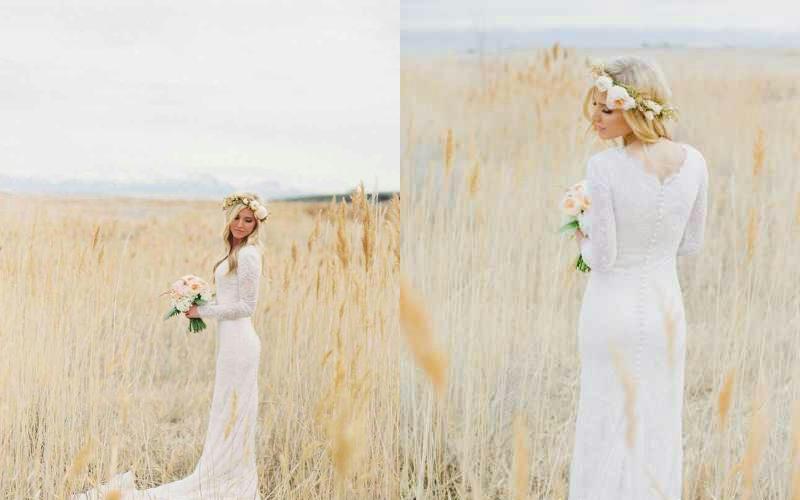 Весільні сукні прямі фото 6