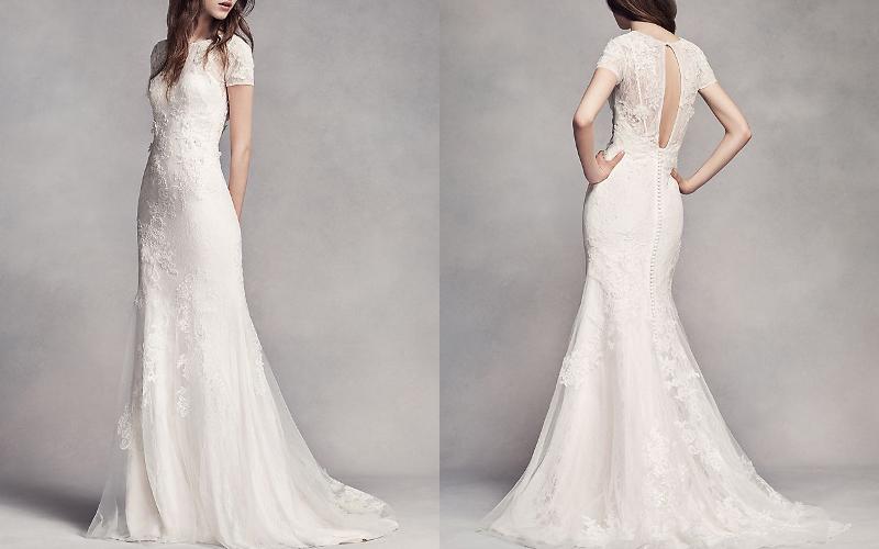 Весільні сукні прямі фото 7