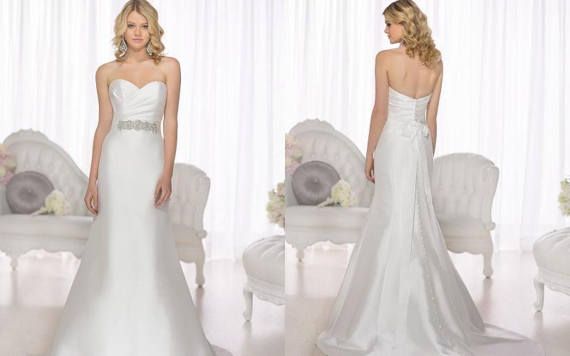 Весільні сукні прямі фото 8
