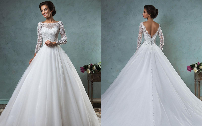 Весільні сукні (50 фото)  мода 2019 року - «Поличка» 7fb3ccf44c735