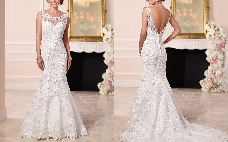 весільна сукня русалка фото 10