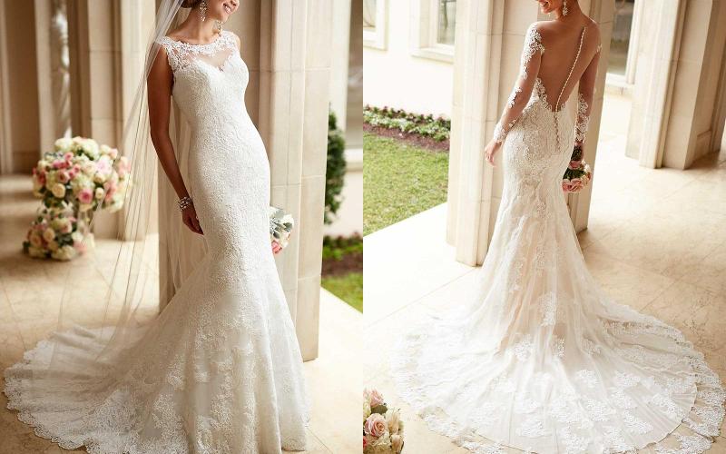 весільна сукня русалка фото 11