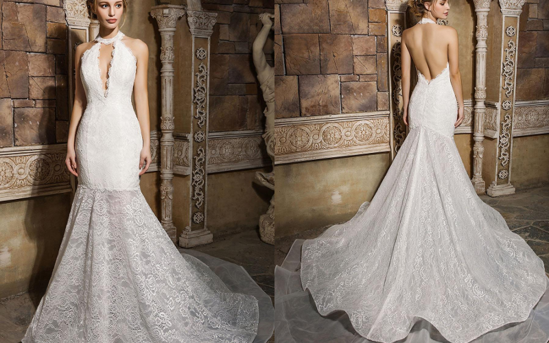 весільна сукня русалка фото 2
