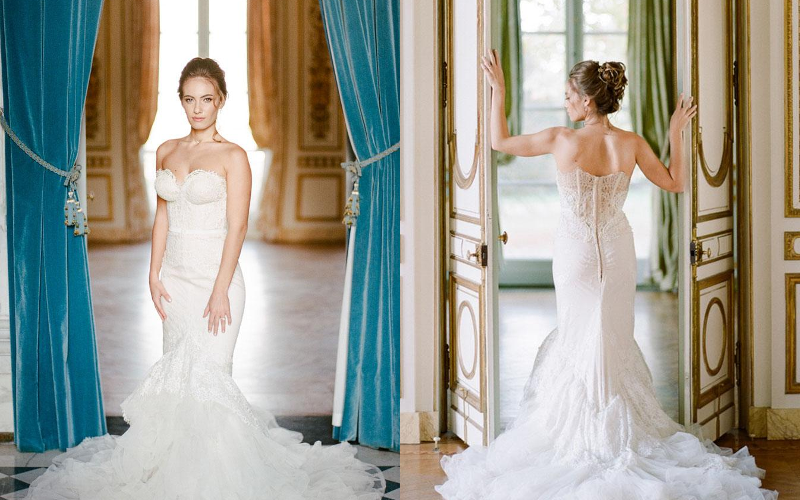 весільна сукня русалка фото 3