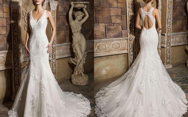 весільна сукня русалка фото 4