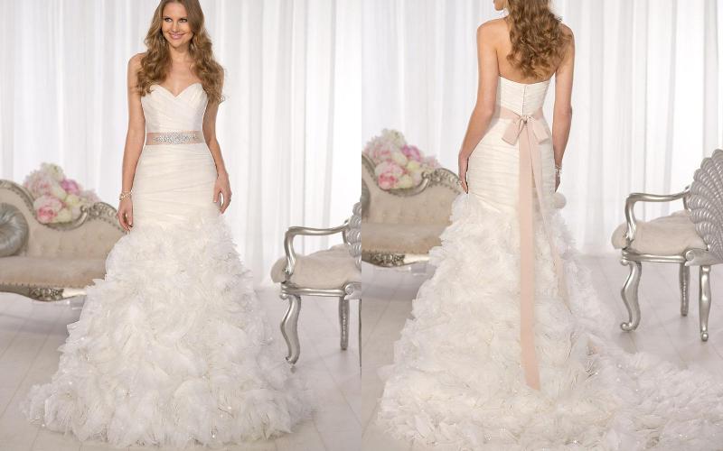 весільна сукня русалка фото 7