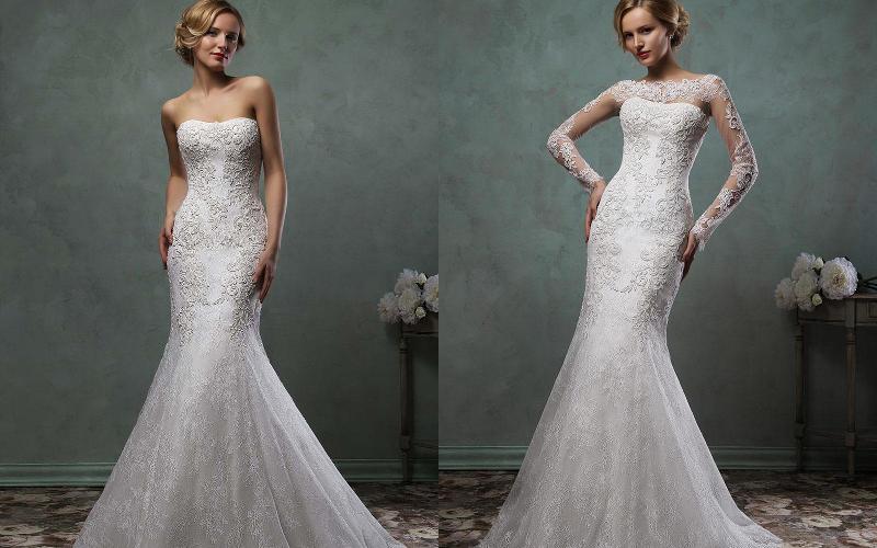 весільна сукня русалка фото 8