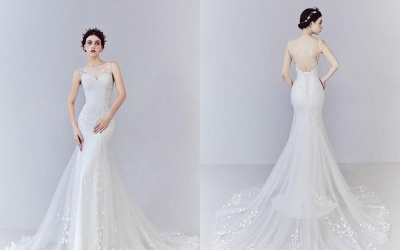 весільна сукня русалка фото 9