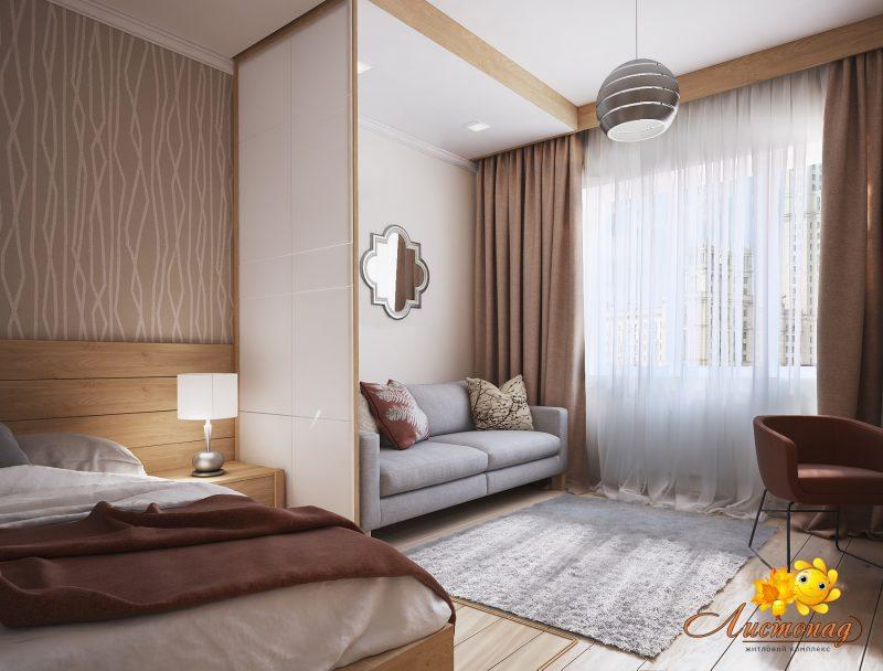 Вітальня і спальня в одній кімнаті 2 - фото 1