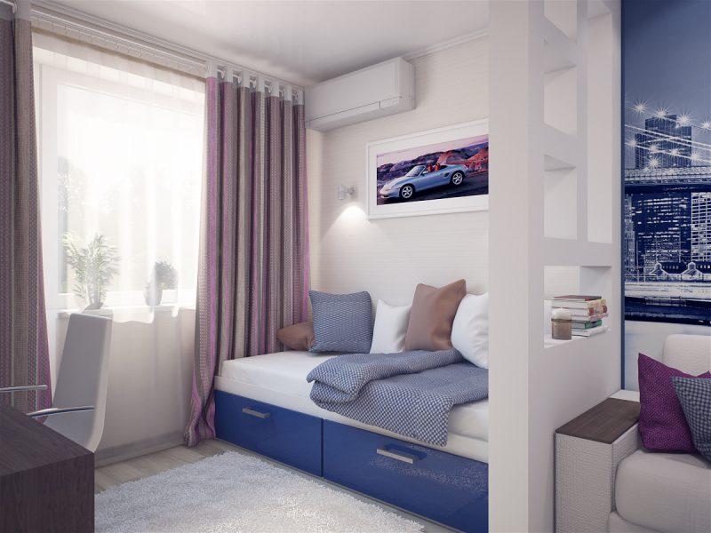 Вітальня і спальня в одній кімнаті 3 - фото 2