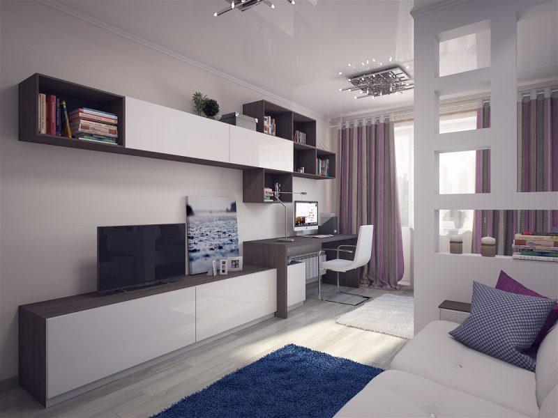 Вітальня і спальня в одній кімнаті 3 - фото 3