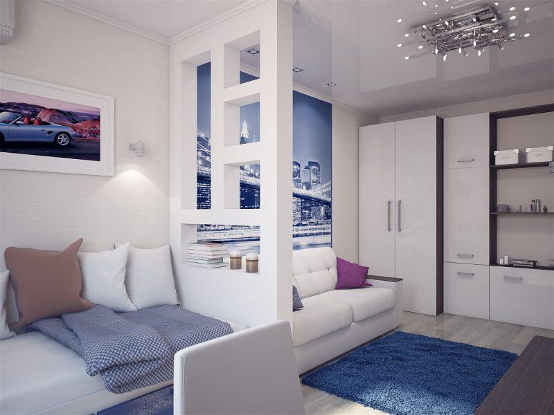 Вітальня і спальня в одній кімнаті 3 - фото 6