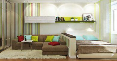 Вітальня і спальня в одній кімнаті (54 фото): кращі дизайн-проекти