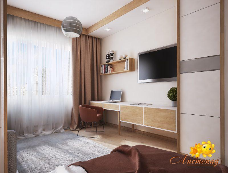 Вітальня і спальня в одній кімнаті 2 - фото 2