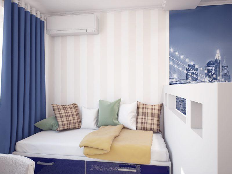 Вітальня і спальня в одній кімнаті - фото 3
