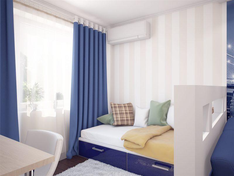 Вітальня і спальня в одній кімнаті - фото 4