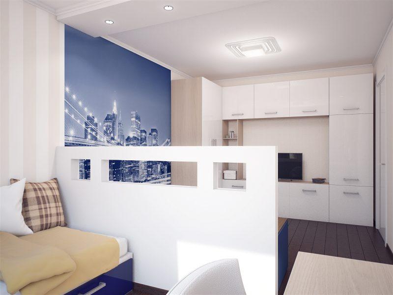 Вітальня і спальня в одній кімнаті - фото 5