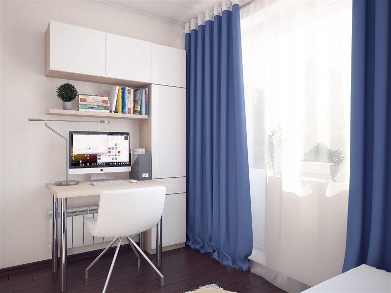 Вітальня і спальня в одній кімнаті - фото 6
