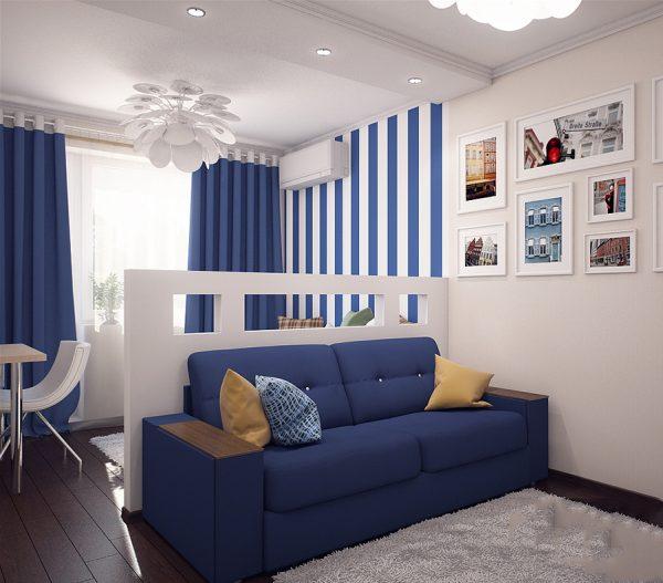Вітальня і спальня в одній кімнаті - фото 7