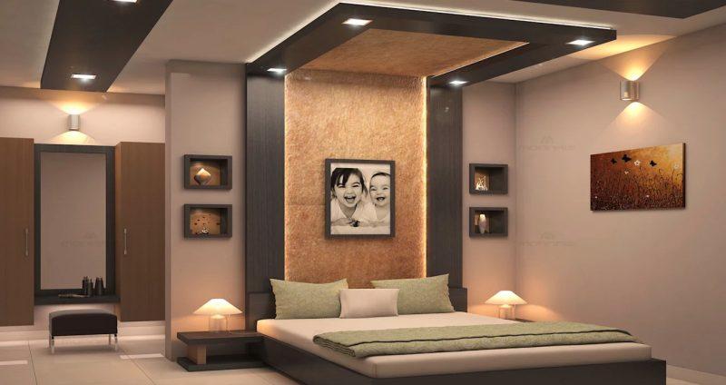 Дизайн інтер'єру в сучасному стіли для спальні