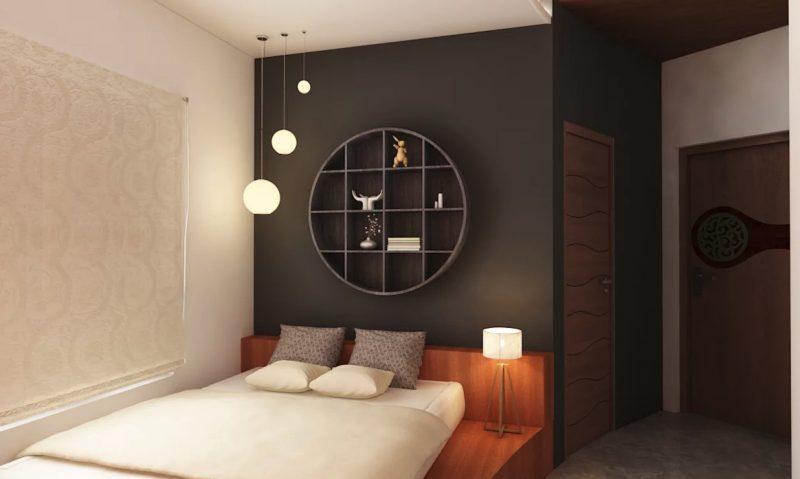 Фото сучасного інтер'єру спальної кімнати