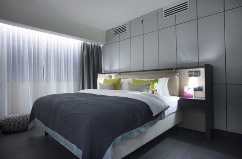 Гарний інтер'єр спальні в сучасному стилі