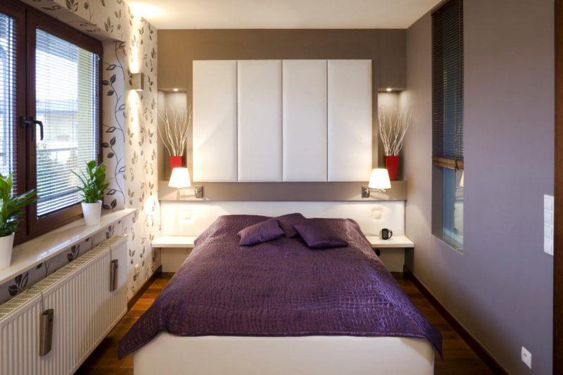 Інтер'єр маленької спальні в сучасному стилі