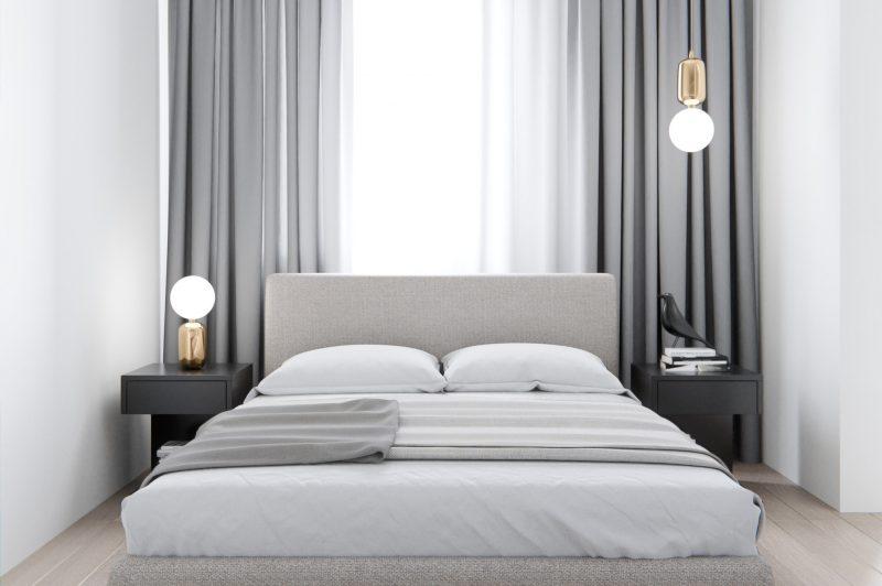 Інтер'єр невеликої спальні в сучасному стилі - фото 3