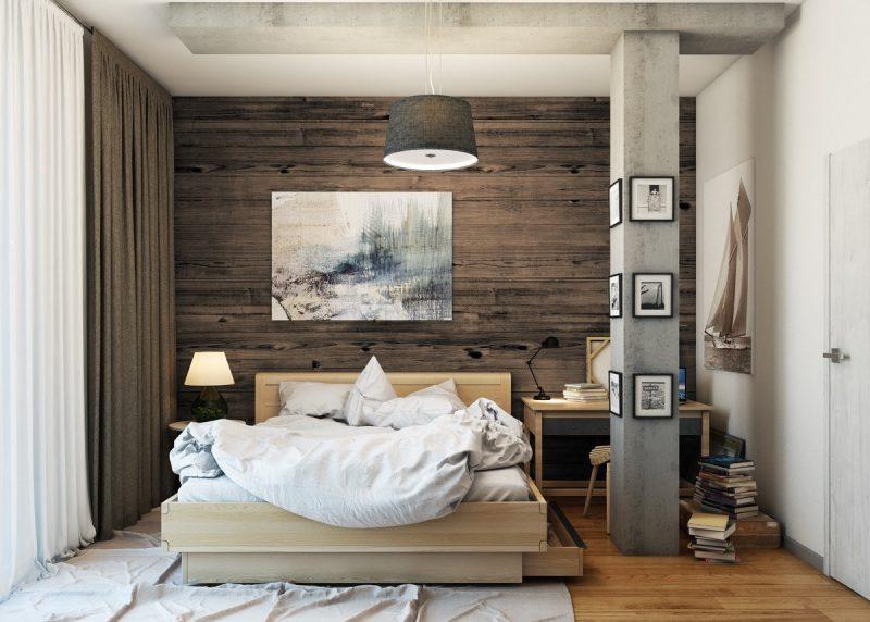 Інтер'р спальні в стилі лофт