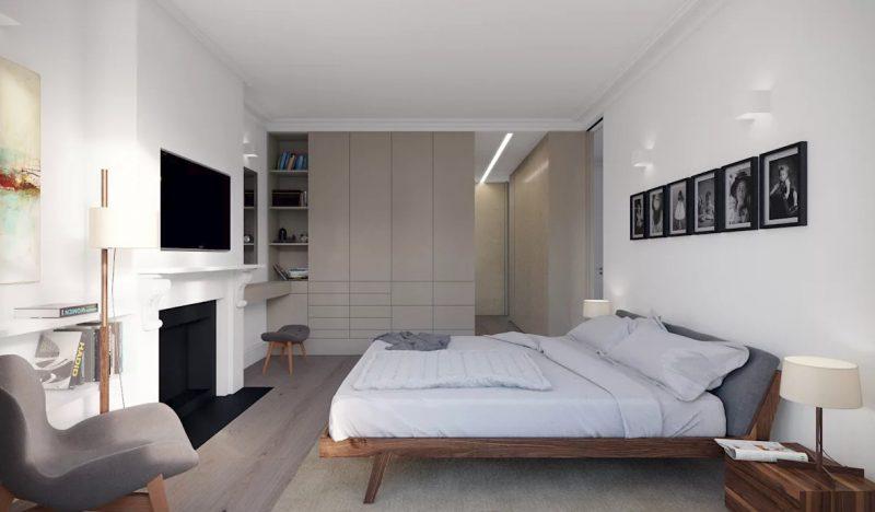 Інтер'єр великої спальні в сучасному стилі