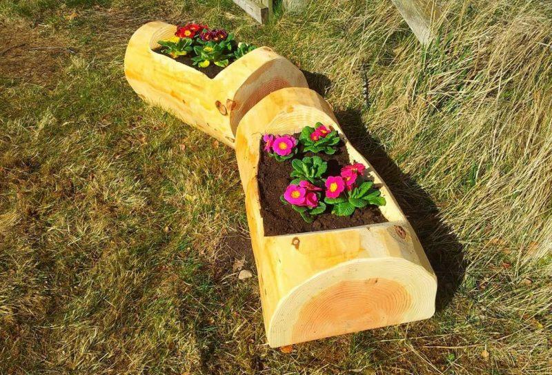 Квіткові клумби з дерева - фото 4
