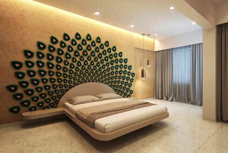 Розкішний дизайн спальні в сучасному стилі