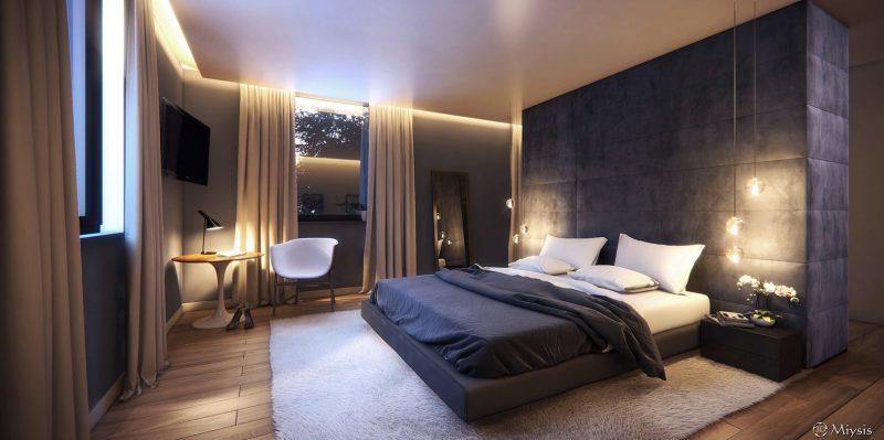 Розкішний інтер'єр спальної кімнати
