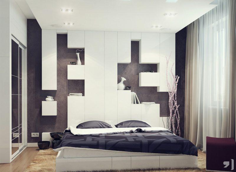 Шикарна маленька спальня в сучасному стилі