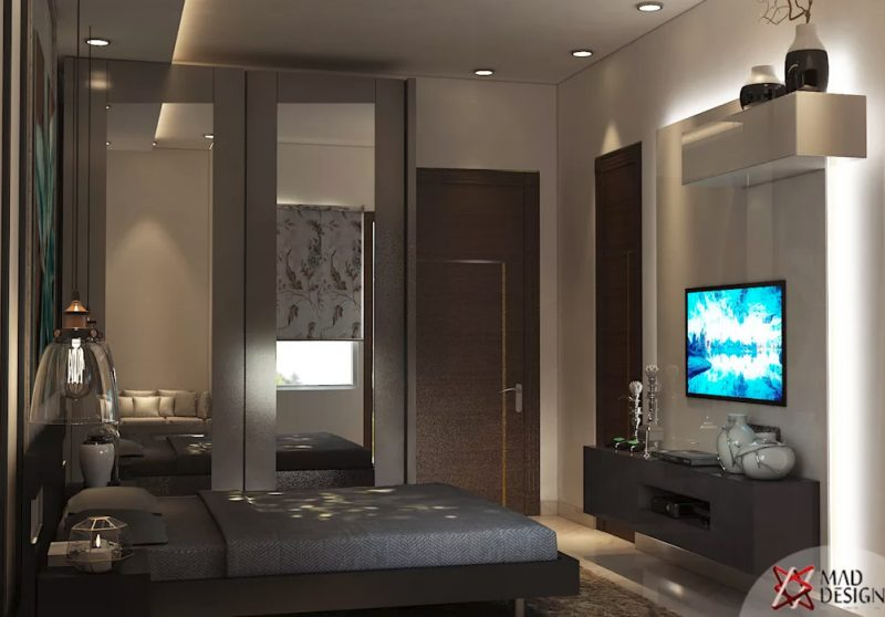 Сучасна спальня - фото інтер'єру