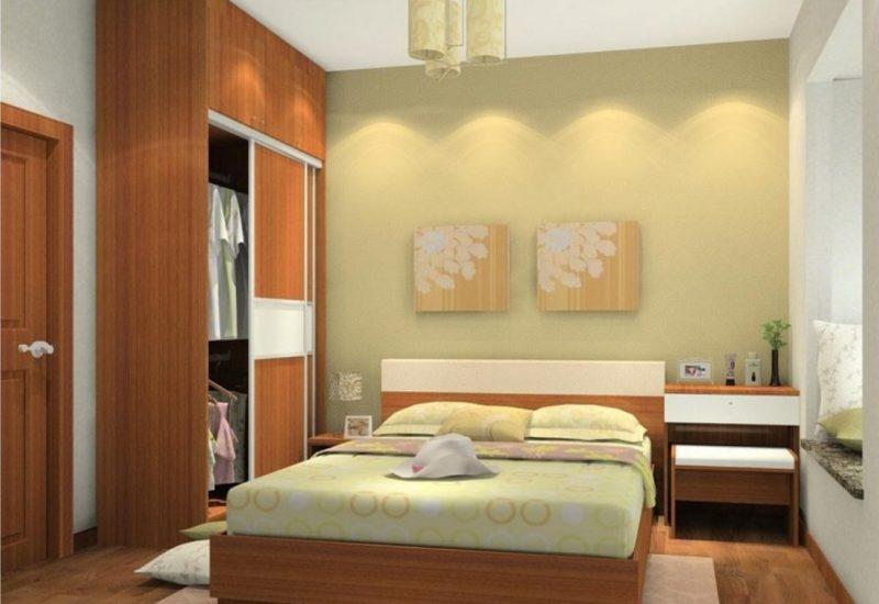 Сучасний дизайн маленької спальні