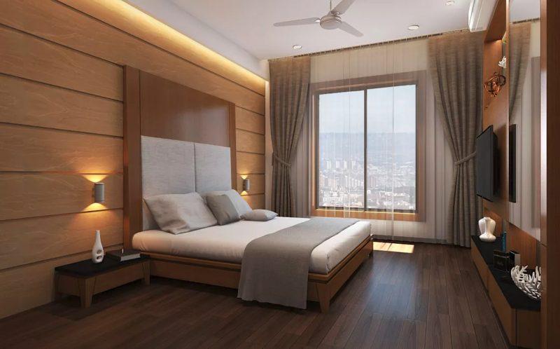Сучасний дизайн великої спальні