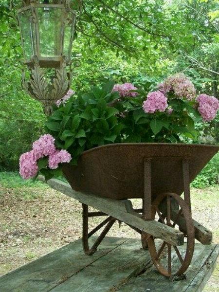 Тачка як клумба для квітів - фото 2