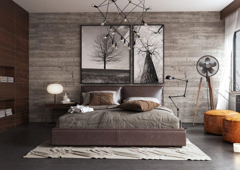Велика спальні з деревом